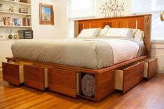 full size bed with storage and headboard king bed storage oard size source platf .full size bed with storage and headboard king bed storage oard size source platform with and full drawers full size bed King Size Storage Bed, Storage Bed Queen, Bed Storage, Storage Drawers, Furniture Storage, Furniture Layout, Bedroom Storage, Furniture Design, Platform Bed Plans