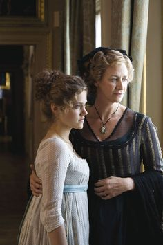 Charity Wakefield as Marianne Dashwood and Janet McTeer as Mrs Dashwood in Sense and Sensibility (TV mini-series, 2008)