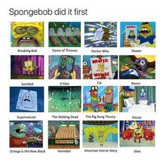 Although at least a couple of these started before SpongeBob... Dankest Memes, Funny Memes, Hilarious, Funniest Memes, Stupid Memes, Stupid Funny, Funny Spongebob Memes, Spongebob Tv, Cartoon Memes