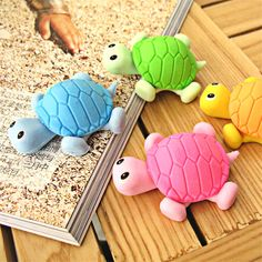 Cute Kawaii Rubber Pencil Eraser Novelty Tortoise Erasers For Kids School Supplies Free shipping 636 #>=#>=#>=#>=#> Click on the pin to check out discount price, color, size, shipping, etc. Save and like it!