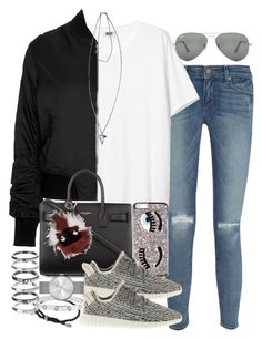 """""""Untitled #3241"""" by hellomissapple on Polyvore featuring Paige Denim, Topshop, Yves Saint Laurent, Givenchy, adidas, David Yurman, M.N.G, Cartier, Fendi and Marc by Marc Jacobs"""