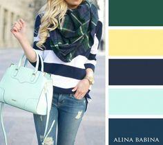 19 combinaisons de couleurs pour pouvoir composer LA tenue parfaite