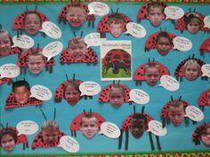 "The grouchy ladybug - Eric carle. Fun bulletin board. ""I'm grouchy when..."""