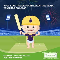 Good Game Kolkata Knight Riders! Just like the game, no matter how many curve balls Diarrhea throws, Econorm always wins the match against diarrhea for your baby.