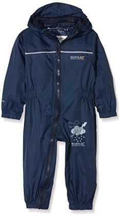 From 10.94:Regatta Boys' Puddle Iv All-in-one Suit - Navy 48 - 60 Months