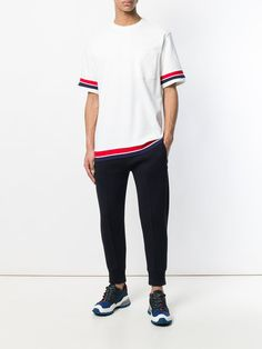 Shop Tommy Hilfiger paneled sleeves T-shirt