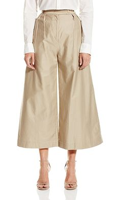 CADET Clothing Womens Wide Leg Crop Trouser Khaki 0 >>> Be sure to check out this awesome product. Wide Leg Cropped Pants, Wide Leg Trousers, Trousers Women, Pants For Women, Clothes For Women, Military Pants, Wedding Gowns With Sleeves, Pleated Pants, Vogue Fashion