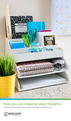 Home office organizing and cleaning ideas.  How to clear out clutter.