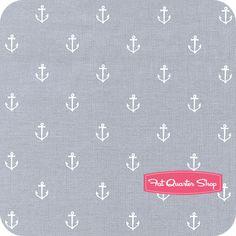 Out to Sea Gray Anchors Away Yardage SKU# DC5627-GRAY-D - Fat Quarter Shop