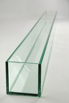 """Large 47in Long Thick Glass Display, Candleholder, Planter 47""""x4""""x4"""""""