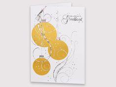 ELEGANT BAUBLES - AC16001 | Auscard Christmas Cards, Symbols, Letters, Seasons, Elegant, Art, Christmas E Cards, Classy, Art Background