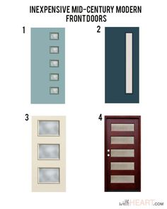 Mid Century Modern Front Door Places To Buy Or DIY Mid Century Modern Front Doors . Some Ideas Of Spectacular Mid Century Modern Front Doors . Retro Garage Door Decoration Ideas And Modern Designs For . Home Design Ideas Midcentury Front Doors, Mid Century Modern House, Modern Exterior Doors, Modern House Design, Modern House, House Exterior, Doors Interior, Front Door Options, Wood Doors Interior