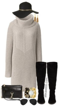 fe453149f86 8 Best Plus Size Sweater Dress images in 2019