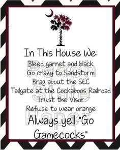Carolina In This House 8x10 Printable by PeachStatePaper on Etsy