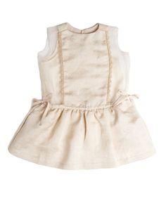 Fantail Dress, Ivory, Caramel Baby & Child.