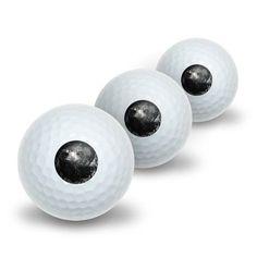 Hawk on Black and White - Raptor Avian Novelty Golf Balls 3 Pack