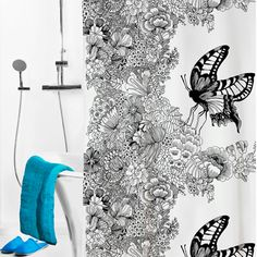 Vallila Mon Amour Extra-Long Shower Curtain