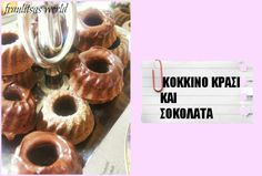 minigugls with red wine and chocolate Sugar Love, Let Them Eat Cake, Doughnut, Red Wine, Sweets, Chocolate, Desserts, Food, Tailgate Desserts