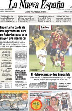 Los Titulares y Portadas de Noticias Destacadas Españolas del 1 de Julio de 2013 del Diario La Nueva España ¿Que le parecio esta Portada de este Diario Español?