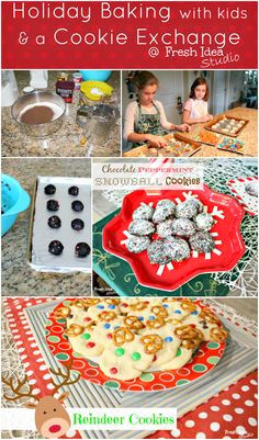 holiday baking with kids collage
