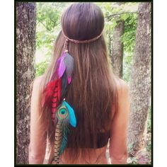 Rainbow Feather Headband Boho Gypsy Coachella Tribal Costume Music... ($50) ❤ liked on Polyvore featuring accessories, hair accessories, grey, headbands & turbans, beaded hair accessories, braided headband, head wrap headband, bohemian hair accessories and headband hair accessories
