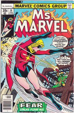 Comics - Ms. Marvel 14 - MARVEL COMICS - Vintage Bronze Age (1978) - Starring Carol Danvers, Chris Claremont Story, Current Captain Marvel