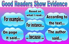 Good Readers Show Evidence Anchor Chart Laminated by lindsayscharts on Etsy