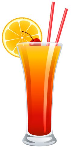 Cocktail Tequila Sunrise PNG Clipart