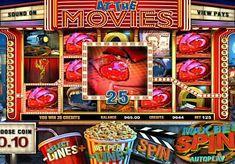 Игровой автомат At the Movies онлайн с выводом денег  Темой игрового аппарата At the Movies стали кинотеатры. Этот онлайн автомат имеет 5 барабанов и 25 линий. В нём есть фриспины, а также знаки Wild и Scatter, которые обеспечат регулярный вывод денег.