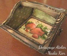 made by Decoupage Atelier - Nadia Kior Decoupage, Decorative Boxes, Atelier, Decorative Storage Boxes