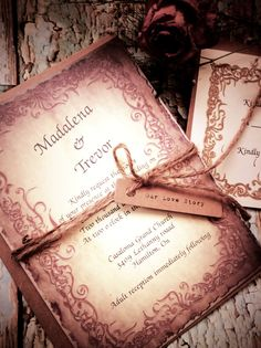 Medieval wedding Invitation FREE SHIPPING PROMO