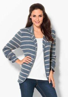 Prúžkovaný sveter s nášivkami na lakťoch #ModinoSK #clothing #stripes #trendy #pruhy #pruzky #fashion #trend #styl #obleceni