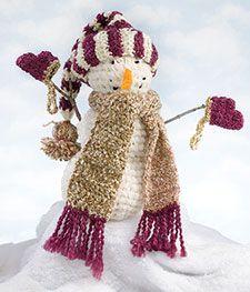 #Crochet #snowman