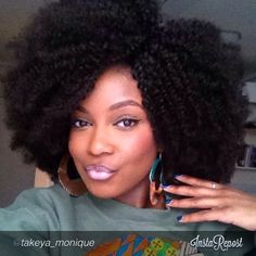 """by @takeya_monique """"Pardon my fro!!! Protective styling using @HauteKinkyHair 'a NEW Afro Kinky Curly collection!! This will be available March 10th ladies!! Use promo code TAKE10 for $10 off all collections including this one! I LOVE IT!"""" via @InstaReposts #Padgram"""