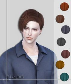 Elza Hair 013 Male Side Sweep for The Sims 4 Sims 4 Cas, My Sims, Sims Cc, Sims 4 Hair Male, Sims Hair, Male Hair, Sims 4 Game Mods, Sims Mods, Sims Games