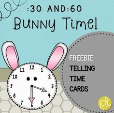 Freebie Bunny Time! Here's an adorable bunny-themed pack to practice identifying time by the hour and half-hour - perfect for Guided Math during Easter and throughout spring! There are analog bunny clocks with corresponding digital clock cards. Students can use the cards as flashcards, matching analog to digital, or sort by hour/half-hour (themed bunny header cards included!). Included are templates for both the analog and digital clocks to customize for your own students.
