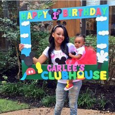 49 mickey mouse clubhouse birthday party - YS Edu Sky Theme Mickey, Mickey Mouse Clubhouse Birthday Party, Mickey Mouse 1st Birthday, Mickey Mouse Parties, Mickey Party, Baby 1st Birthday, Birthday Ideas, Elmo Party, Birthday Frames