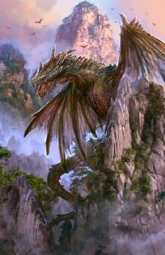 Dragon by PabloFernandezArtwrk - http://chinqwe.deviantart.com/art/Dragon-554311800  I don't have the skills for this masterpiece