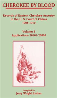 Cherokee by Blood: Volume 8, Records of Eastern Cherokee Ancestry in the U. S. Court of Claims 1906-1910, Applications 20101-23800 - Jerry Wright Jordan. In 1904 the Eastern Cherokees won a million dollar judgment against the U.S. because of its violations of the treaties of 1835-36 and 1845. The payments were to go to all living persons who had been members of the Cherokee tribe at the time of the treaties, or to their