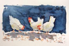 Kippen in de tuin Verkocht