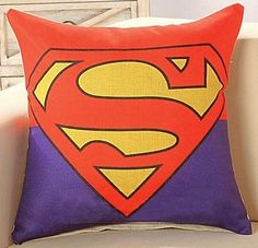 New Superhero Cushion Cover Inner Pillow Option Batman / Superman Marvel Kids