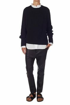 fisherman's rib knit black | bassike