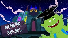 If you think only you toddlers have to go to kindergarten to learn nursery rhymes and baby songs then you havent seen the Monster School! The Monster School is the place where all the monsters from the land of scary rhymes come to learn their alphabets shapes numbers as well as some of their famous Halloween rhymes and scary songs! #kids #babies #fun #toddlers #kindergarten #preschool #playtime