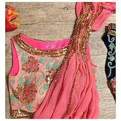Pink Sari with Light Pink Blouse