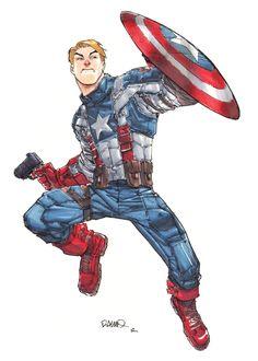 Captain America by Humberto Ramos