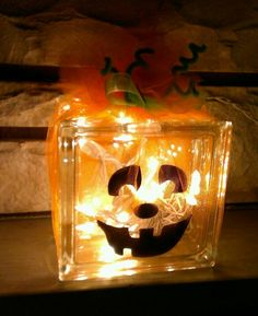 String Lights For Glass Blocks : glass blocks on Pinterest Painted Glass Blocks, Lighted Glass Blocks and Christmas Lights