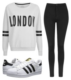 """""""London"""" by polyvoreshine on Polyvore featuring ONLY, Topshop and adidas Originals"""