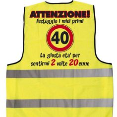 Gilet compleanno 40 anni 40th Birthday, Birthday Parties, Happy Birthday, Happy 40th, Stationary Design, Funny, Party, Image, Amazon