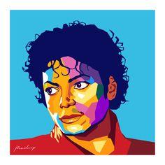 MICHAEL JACKSON IN WPAP, The King of Pop - Pop Art