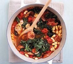 15-minute Bean and Chicken Sausage Stew